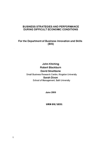 Preview of AS Business: Strategies during hard economic times