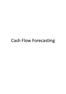 Preview of AS Business Studies: Cashflow Forecasting