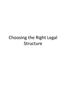 Preview of AS Business Studies: Choosing the Right Legal Structure