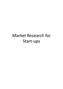 Preview of AS Business Studies: Conducting Market Research for Start-ups