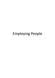 Preview of AS Business Studies: Employing People