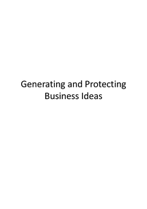 Preview of AS Business Studies: Generating and Protecting Business Ideas