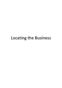 Preview of AS Business Studies: Locating the Business