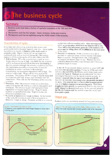 Preview of AS Business: The business cycle revision guide
