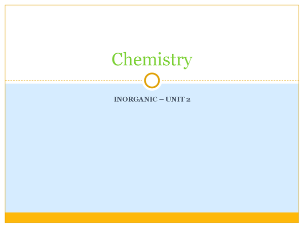 Preview of AS Chem - AQA - Unit 2 - Inorganic Chemistry