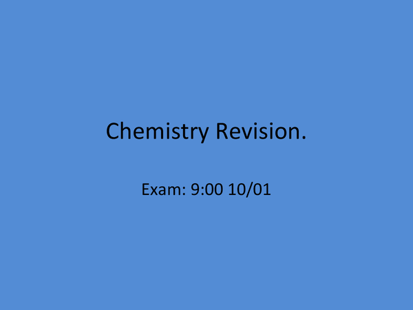 Preview of AS Chemistry OCR Salters B Unit 1