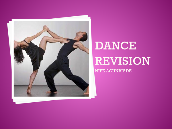 Preview of AS Dance Theory Revision - AQA DANC1