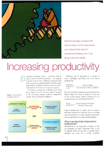 Preview of AS Economics: Increasing productivity revision sheets
