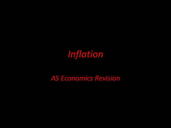 Preview of AS Economics Macro Inflation Help