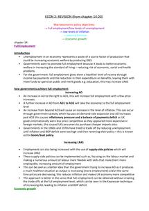 Preview of AS Economics Macroeconomy