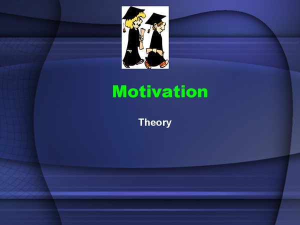 Preview of AS Economics: Motivation theory powerpoint