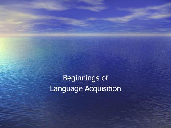Preview of AS English Language - Child language