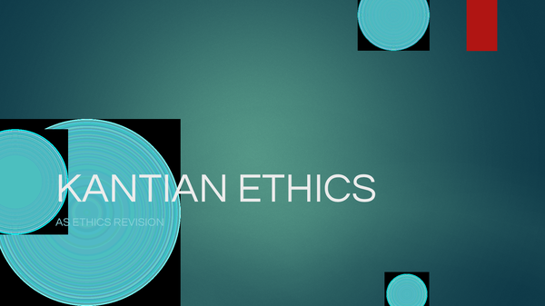 Preview of AS ETHICS KANTIAN ETHICS REVISION IN NOTE FORM (POWERPOINT)