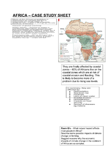 Preview of AS Geography - Africa - case study sheet
