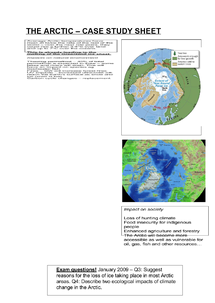 Preview of AS Geography - The Arctic - case study summary sheet