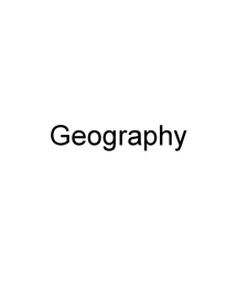 Preview of AS Geography unit 1 revision notes