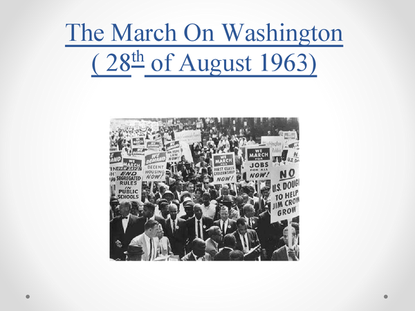 Preview of AS History: March On Washington