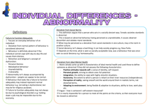 Preview of AS Individual Differences - Abnormality Posters