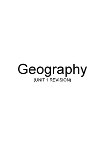 Preview of AS-Level AQA Geography - UNIT 1