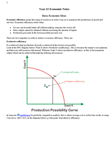 Preview of AS-level Economics Summary