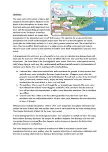 Preview of As level Geography Hydrology notes with case studies