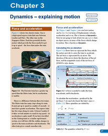 Preview of AS Level OCR Physics for you textbook; Chapter 3 - Dynamics, Explaining Motion