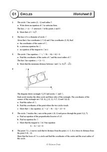 math worksheet : as maths  core 1  solomon worksheets  circles  worksheet b  : Maths Circles Worksheets