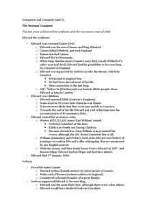 Preview of AS Norman Conquest Complete notes (1of2)