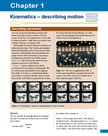 Preview of AS Physics OCR textbook Chapter 1: Kinematics