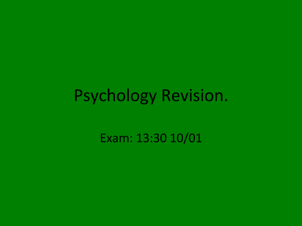 Preview of AS Psychology AQA A Unit 1