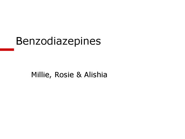 Preview of AS Psychology - Biological Psychology - Unit 2 - Benzodiazepines