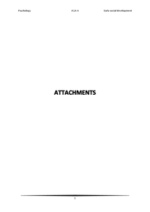 Preview of AS psychology revision - attachments