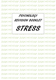 Preview of AS Psychology Revision booklet