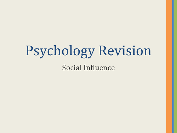 Preview of AS Psychology- Social Influence