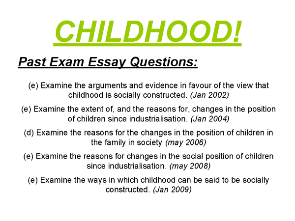Preview of AS Sociology - Childhood - Revision Cards/Presentation
