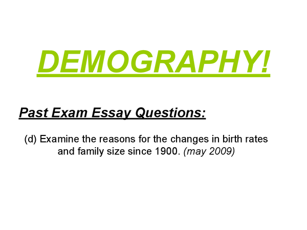 Preview of AS Sociology - Demography - Revision Cards/Presentation