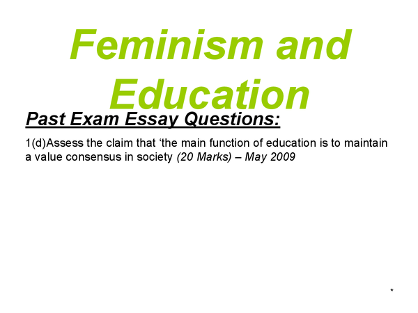 Preview of AS Sociology - Education - Feminism