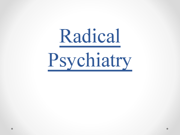 Preview of AS Sociology- Radical Psychiatry