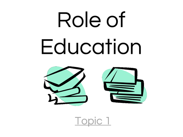 Preview of As Sociology Role of Education