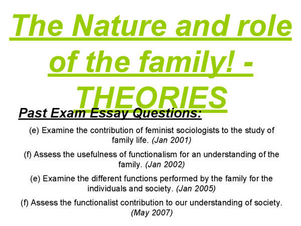 Preview of AS Sociology - Theories/Nature and role - Revision Cards/Presentation