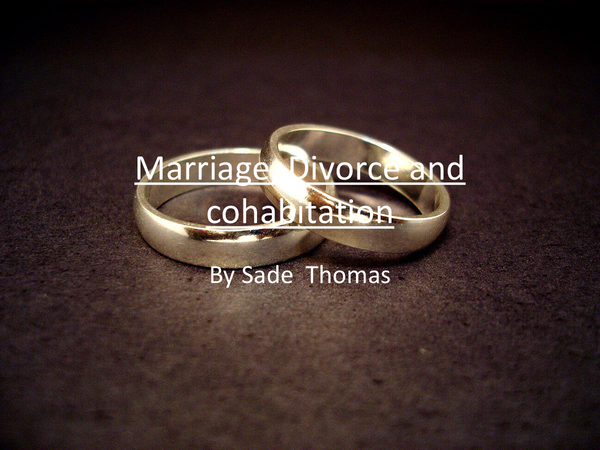Preview of AS Sociology:Marriage, Divorce and Cohabitation