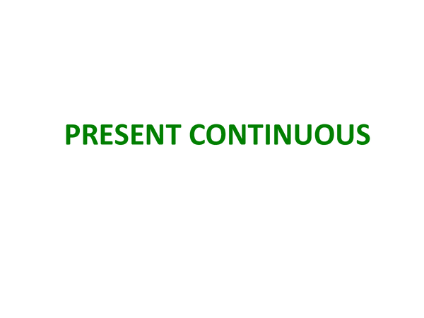 Preview of AS Spanish - Present Continuous
