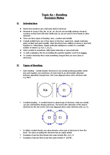 Preview of As Topic 4 Notes - Bonding & Periodicity