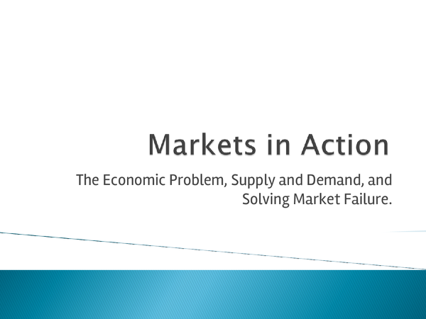 Preview of AS/A2 Economics (Markets in Action)