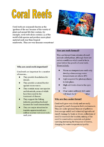 Preview of AS/A2 Geography-Coral reefs & management