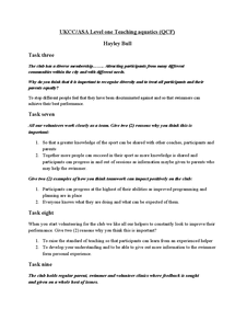 Preview of ASA/UKCC Level One Teaching aquatics (QCF)