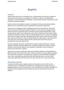 Preview of Aspirin General Information