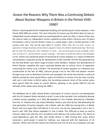 Preview of Assess the Reasons why there was a Continuing Debate About Nuclear Weapons in the Period 1945 to 1990.
