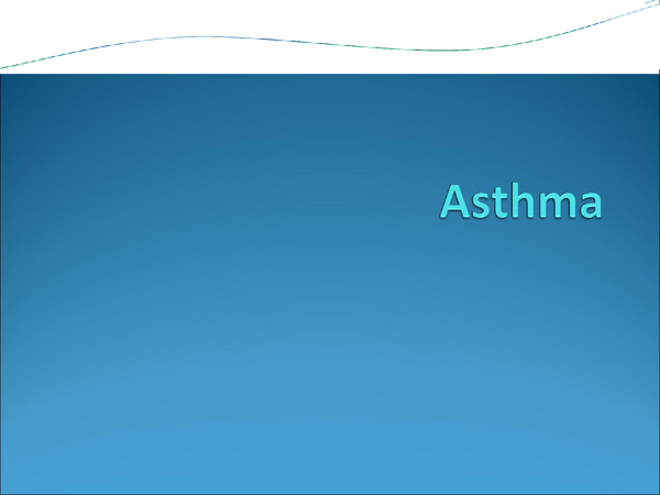 Preview of Asthma