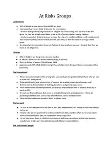Preview of At Risk Groups